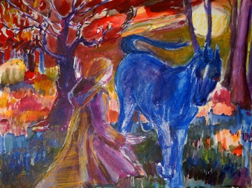 Pferd und Mönch